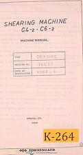 Komatsu C4 2 And C6 2 Shearing Machine Operations Amp Maintenance Manual 1982