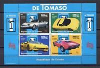 27426) Guinea 1998 MNH Nuevo Cars - De Tommaso S/S Bf