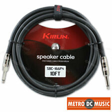 """Kirlin Pro Audio 10 FT Speaker Cable 1/4"""" 16AWG Guitar Bass Amp Amplifier NEW"""