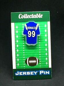 Los Angeles Rams Aaron Donald jersey lapel pin-#1 New Classic team Collectible