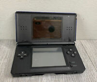 Nintendo DS Lite Blue Black Handheld Console - Non Working For Parts AS IS