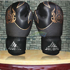 10oz  Fight Boxing Sanda Grappling MMA Muay Thai Training Sparring Gloves Black