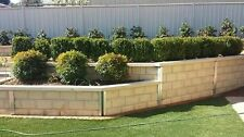 Canberra concrete sleepers for all retrianing wall and garden beds and paving