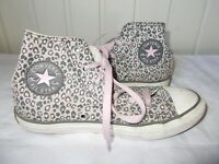 CHAUSSURES baskets montantes toile gris rose CONVERSE ALL STAR 1uk 33fr