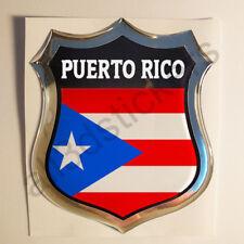 Pegatina Puerto Rico 3D Escudo Emblema Vinilo Adhesivo Resina Relieve Coche Moto