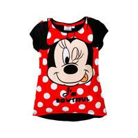 DISNEY t-shirt MINNIE 3 4 6 ou 8 ans  noir rouge manches courtes NEUF