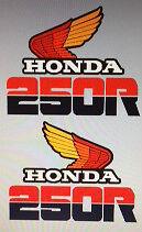 HONDA XL250 XL250R PETROL TANK DECALS