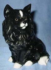 Spitz personaje perros personaje porcelana figura perros personaje perro de porcelana negro