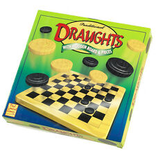 Draughts Traditional Wooden Game