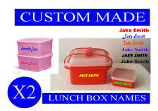 Personalised custom kids Lunch box school box cup flask Names Sticker Decals