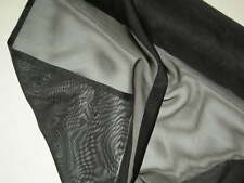 "Black organza fabric heavier polyester designer material By the yard x 61""wide"