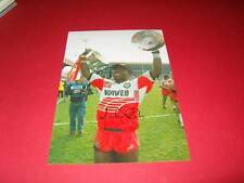 Martin Offiah Wigan Warriors Rugby League Legend signed photo COA EPS AFTAL