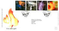 1 FEBRUARY 2000 FIRE AND LIGHT ROYAL MAIL FIRST DAY COVER EDINBURGH SUNBURST SHS