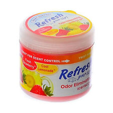 Refresh Scented Gel Car, Home & Office Air Freshener 4.5 oz. Strawberry/Lemonade