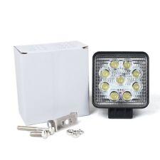 """2x 4"""" 12V 24V 6500K 27W Waterproof LED Lamp Round Off road Car Boat Work Lights"""