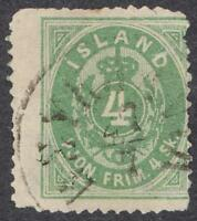 ICELAND O1 OFFICIAL - SMALL FAULTS - VERY SCARCE STAMP!