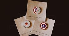 Marvel The Avengers Bucky Winter Soldier War Logo Enamel Pin Brooch Rare 3pcs