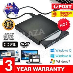 External Drive USB Portable Burner CD RW DVD ROM Reader Writer For Mac & Windows