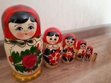 New 6 Pcs Russian Hand Painted Wooden Dolls Nesting Matryoshka Nice Gift