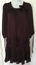 Ladies Wine Burgundy Tunic Top Next Size 16 Silk Feel