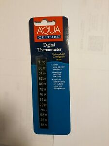 Aqua Culture: Digital Aquarium Thermometer, Fahrenheit/Centigrade Scale. 1 Ct