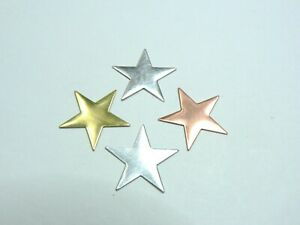 2 x Star blanks jewellery making. Copper Brass Aluminium Silver. All sizes.