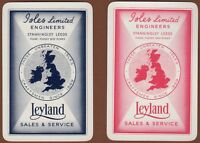 Playing Cards 2 x Single Card Old LEYLAND MOTORS Sales Advertising ISLES Leeds