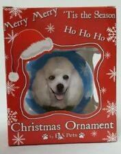 "White Poodle Dog Shatterproof Ball Ornament 3""  E&S Pets CBO-28 Holiday Decor"