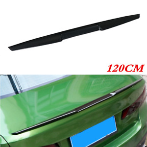 TPU Black Spoiler Wing Lip Fit for Car Rear Roof Tail Trunk Molding Trim Sticker