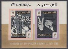 Fujeira 1966 ** Bl.3 B Churchill Politiker Politician