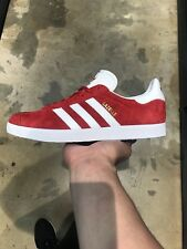 ADIDAS GAZELLE SHOES WHITE RED SZ US10 COMMON PROJECT CAMPUS STAN SMITH SNEAKERS