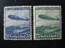 THIRD REICH Mi. #606-607 mint Zeppelin stamp set! CV $60.00