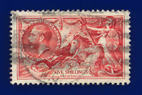 1934 SG451 5s Bright Rose-Red N74 London Good Used Cat £85 cuip