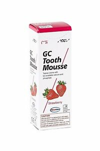 GC Tooth Mousse Strawberry Paste Topical Cream Recaldent Derived from Milk 40g