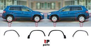 FOR VOLKSWAGEN TIGUAN NEW ALL FOUR WHEEL ARCH MOULDING PAIR SET 2007 - 2016