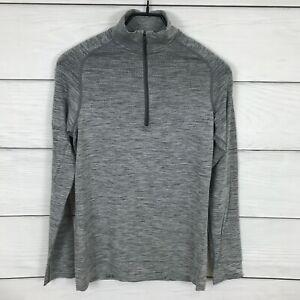 Lululemon Gray Metal Vent Long Sleeve 1/2 Zip Shirt XS Run Gym Workout Athletic