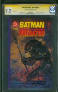 Batman vs Predator 1 CGC SS 9.2 Arthur Suydam Signed Prestige Format 2018 Movie