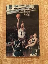 1980 - 81 University of Vermont Catamount Mens Basketball Schedule