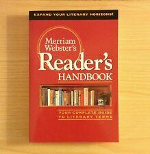 Merriam Webster Reader's Handbook Guide To Literary Terms Paperback