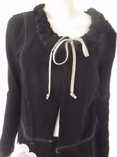 NEW COVER Womens long sleeve Black Jacket size 10