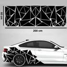 200cmx55cm Car Body Glossy Geometric Triangle Graphics Decal Vinyl Car Sticker