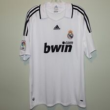 mint REAL MADRID 2008-09 Adidas home shirt XL jersey maillot trikot camisa BWIN