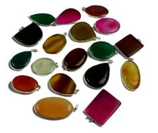 Agate/Onyx & Mix Gemstone 925 sterling silver overlay Pendants Wholesale Lots
