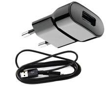 2in1 Original USB Micro Ladegerät für Samsung GT-i9505 Galaxy SIV S4 LTE Schwarz