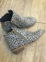 Leopard Print Western Style Ankle Boot