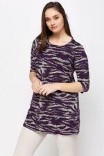 "New Ladies ""Marina Kaneva"" Gorgeous Purple/cream  Long Tunic Top Plus size 26/28"