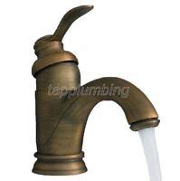 Antique Style Brass Bathroom Basin Faucet Vessel Sink Mixer Tap tnf034