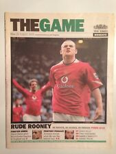 THE TIMES MONDAYS - THE GAME 29 AUGUST 2005 - RUDE ROONEY MANCHESTER UNITED