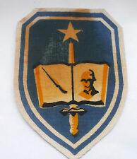 vintage printed ARVN cloth patch  adjutant general school removed from hanger
