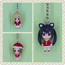 K-ON Japanese Anime Key Ring Chain 4cm Figure 3-pcs set
